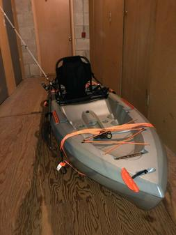 10 foot Lifetime Fishing Kayak with Rod/Reel Combo Included