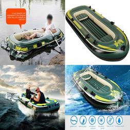 2 4 Person Inflatable Kayaks Canoe River Raft Paddle Boat Fo