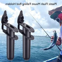 2PCS Flush Mount Fishing Boat Rod Holder Bracket With Cap Co