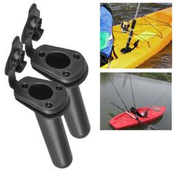 2X Flush Mount Fishing Boat Rod Holder Bracket With Cap Cove