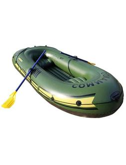 3 Person Inflatable Fishing kayak Boat Canoe w/2 Cushions te