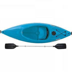 8 Ft Recreational Sit In Kayak Boat Ocean Blue With Paddle S