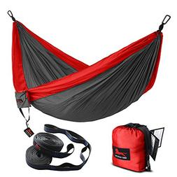HONEST OUTFITTERS Double Camping Hammock with Hammock Tree S
