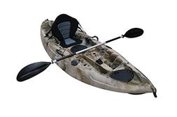"BKC UH-FK184 9'2"" Sit on Top Single Fishing Kayak Seat and P"