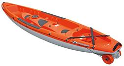 BIC Sport Borneo Kayak, Orange/White, 13-Feet 5-Inch x 33-In