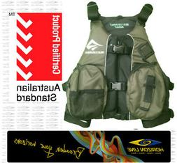 S2S Olive Fishing PFD Life Jacket Vest Kayak Angler Sit on T