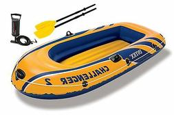 Intex Challenger 2, 2-Person Inflatable Boat Set with French