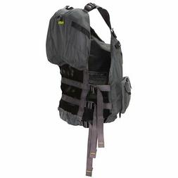 NRS Chinook Fishing Lifejacket-Charcoal-L/XL