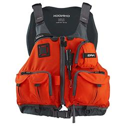 NRS Chinook Mesh Back Fishing PFD Orange S/M