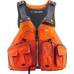 NRS Chinook OS Fishing Lifejacket -Orange-L/XL