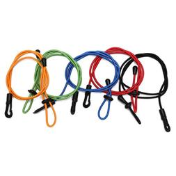 elastic rubber bungee cord fishing rod/ kayak paddle leash w