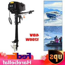 Electric Outboard Fishing Boat Engine 1200W Trolling brushle