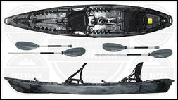 Riot Escape Duo Deluxe Angler Tandem Fishing Kayak - Paddle