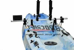 fishing kayak trolling motor mount universal + two rocket la