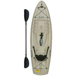 FISHING KAYAK WITH PADDLE SIT-ON 8FT ANGLER MAX 45 DAY FREE