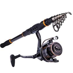 Telscopic Fishing Rod and Roll Combo Spinning Reel Adjustabl