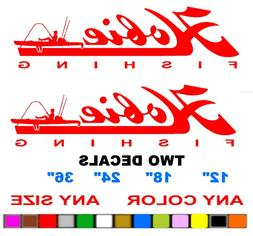 Hobie FISHING  stickers decals ANY COLOR    PAIR  HOBIE CAT