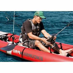 Inflatable Fishing Kayak 2 Person Boat Canoe 2 Paddles Oars