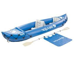 inflatable kayak 2 person boat w paddle