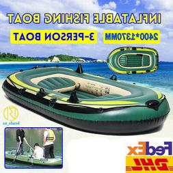 Inflatable Sport Kayak Canoe Boat w/ Paddles Sea Lake River
