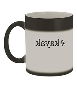 #kayak - 11oz Color Changing Hashtag Sturdy Ceramic Coffee C