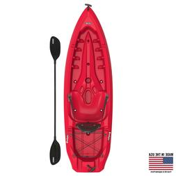 Kayak Sit On Top Fishing Wilderness Paddle Included Red Outd