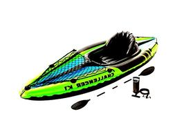 Kayak Water Raft Fishing 1 Person Sporty Inflatable Boat Lak