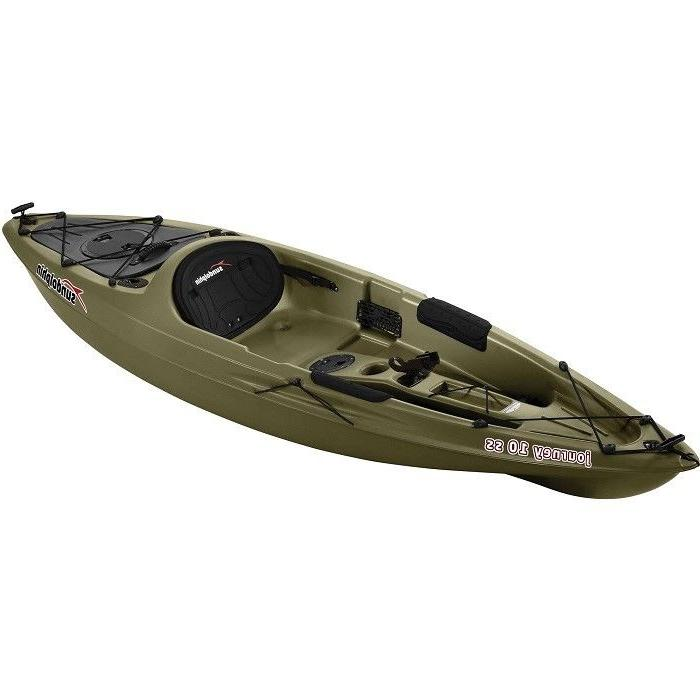 10 fishing kayak olive with paddle sit