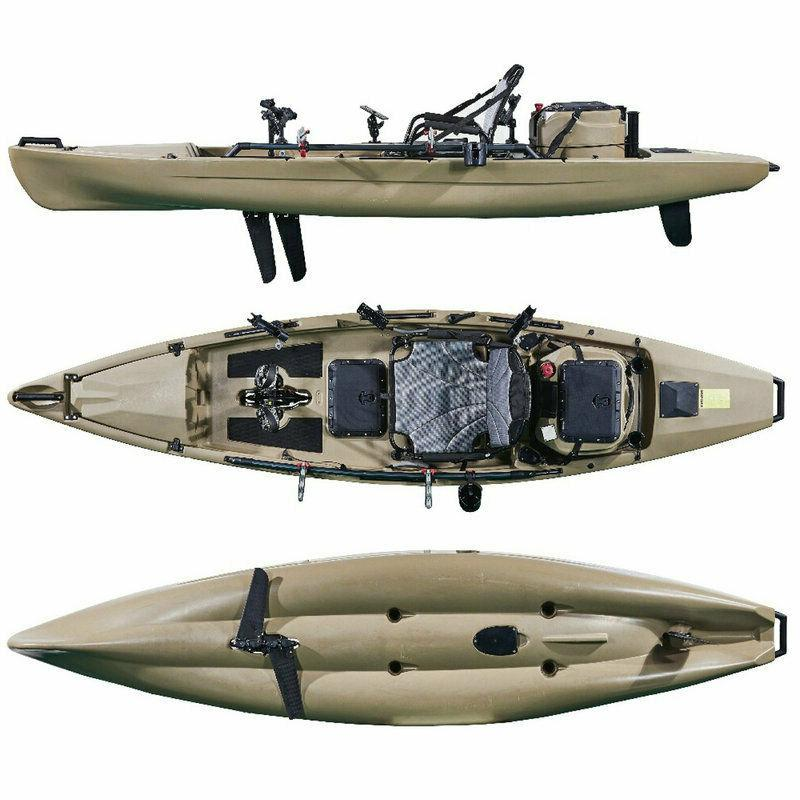 12ft pedal fishing kayak with livewell tank