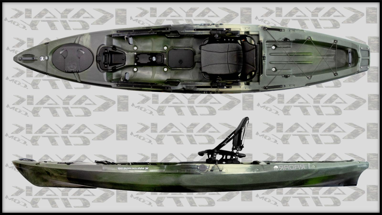 2020 radar 135 fishing kayak mesa camo