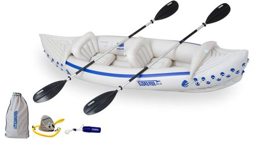 330 inflatable kayak with deluxe package