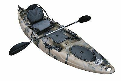 BKC UH-RA220 11-Foot Angler On Fishing Kayak with Paddles, 1-