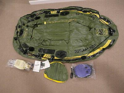 fish hunter hf250 inflatable boat raft never