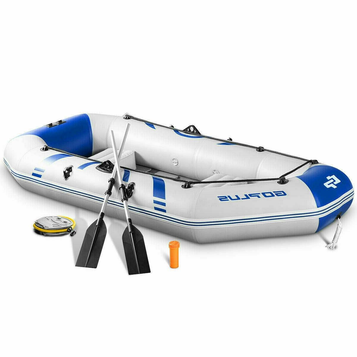 Fishing Kayak Boat Inflatable Kayak 2 3 Person Set Oars Air