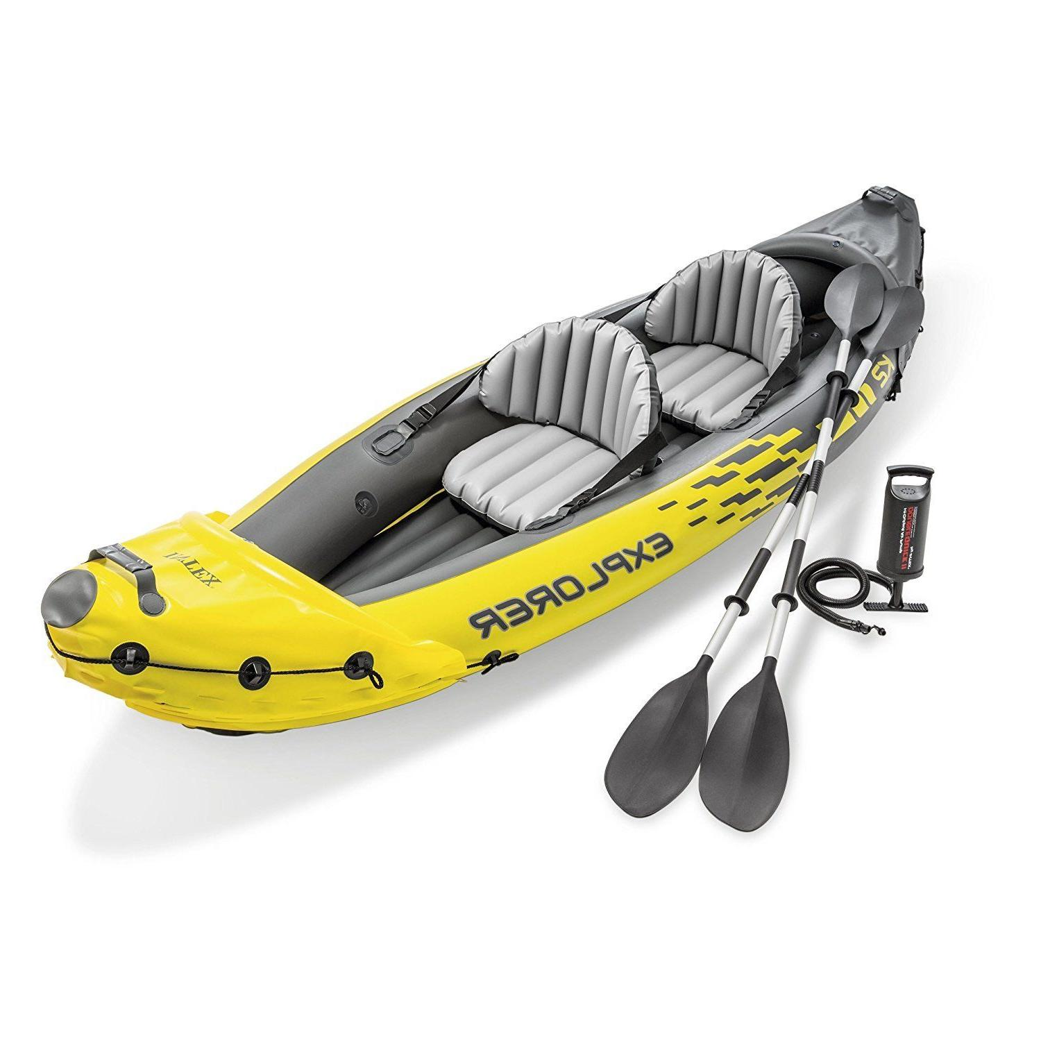 Fishing Kayak River Person Inflatable Double Twin Yellow