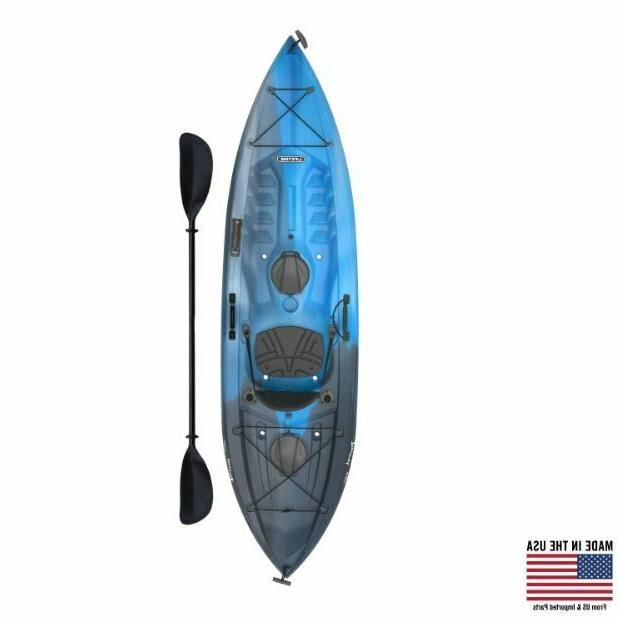 Fishing Kayak Paddle Adult Sit Padded Storage Rod Bungee