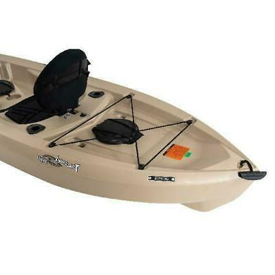 Fishing Kayak Water Outdoor Paddle Included Tan High Polyethylene