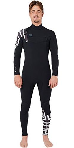 Billabong Furnace Carbon Comp 3/2MM Chest Zip Wetsuit Black