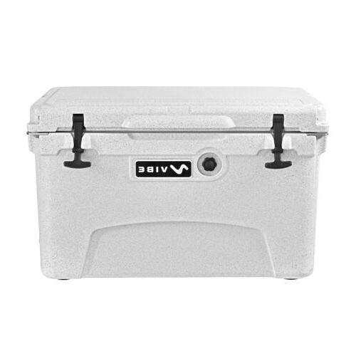 Vibe Heavy Duty 45 Quart Roto Molded Cooler Ice Chest with B