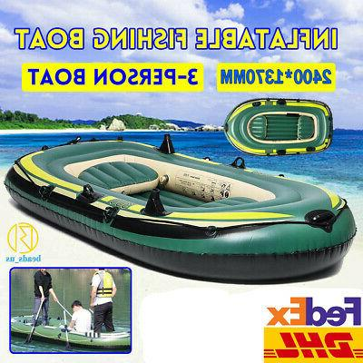 inflatable sport kayak canoe boat w paddles