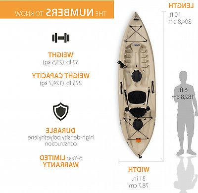 KAYAK w/ Paddle Water Lake Ocean Tan by Lifetime 90508