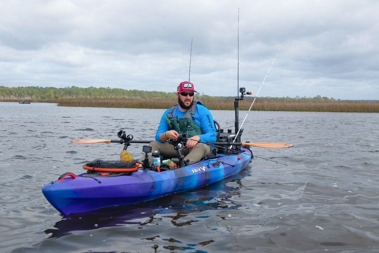 Vibe Ghost 130 13' Pro Fishing Kayak | + + Seat