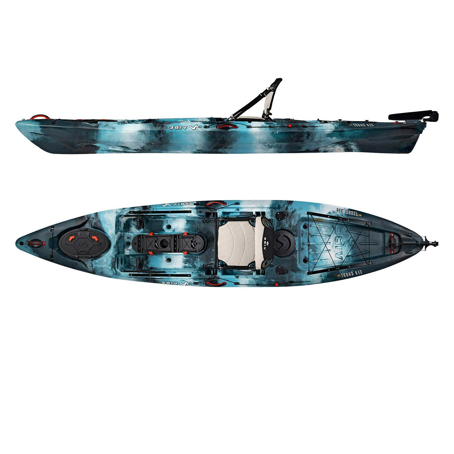 Vibe Sea Ghost 13' Pro Kayak | Rudder + + Seat