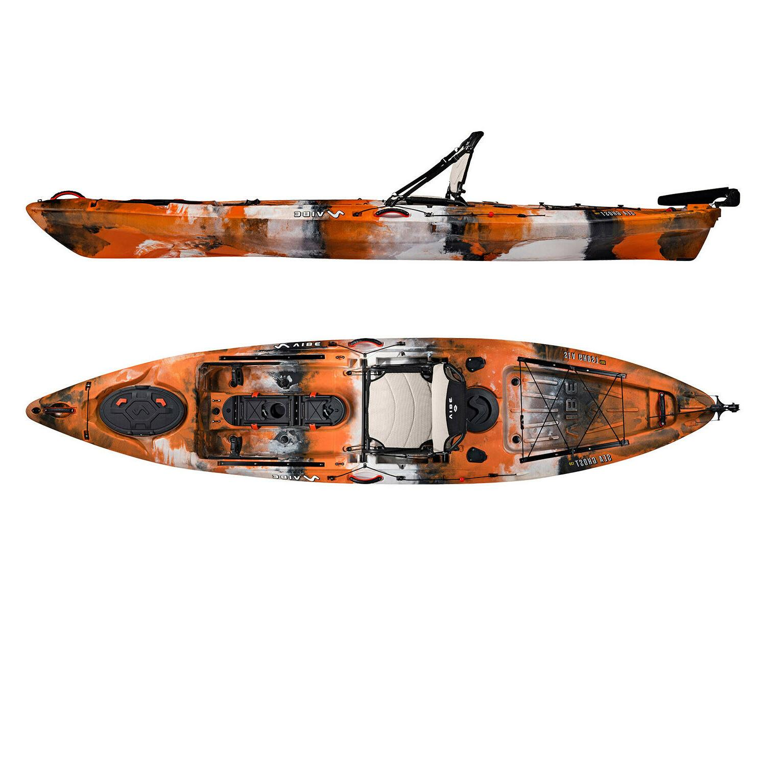 Vibe Sea 13' Pro Fishing Kayak | Rudder + Premium Seat