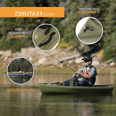 Fishing Lifetime Padded Seat Angler Paddle Included New