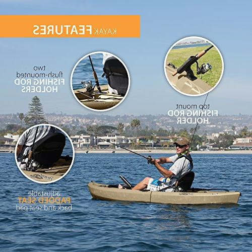 Lifetime Sit-On-Top Kayak with Paddle, 120""