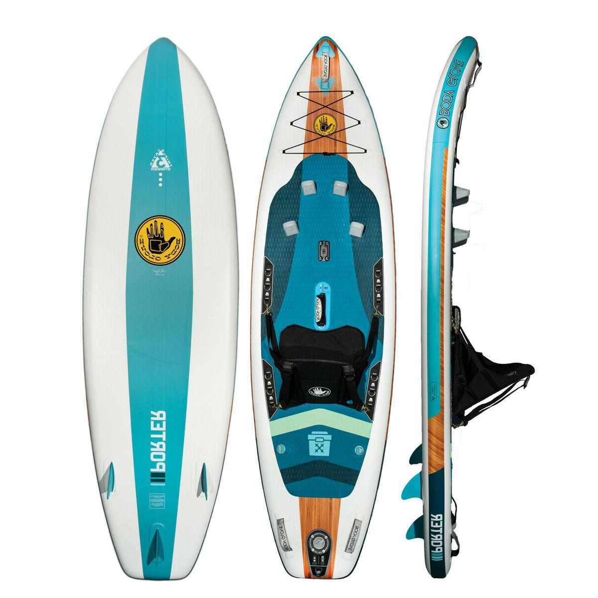 porter inflatable kayak sup hybrid with accessories