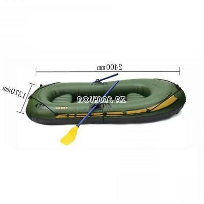 PVC Inflatable Boat Fishing Canoe Rowing