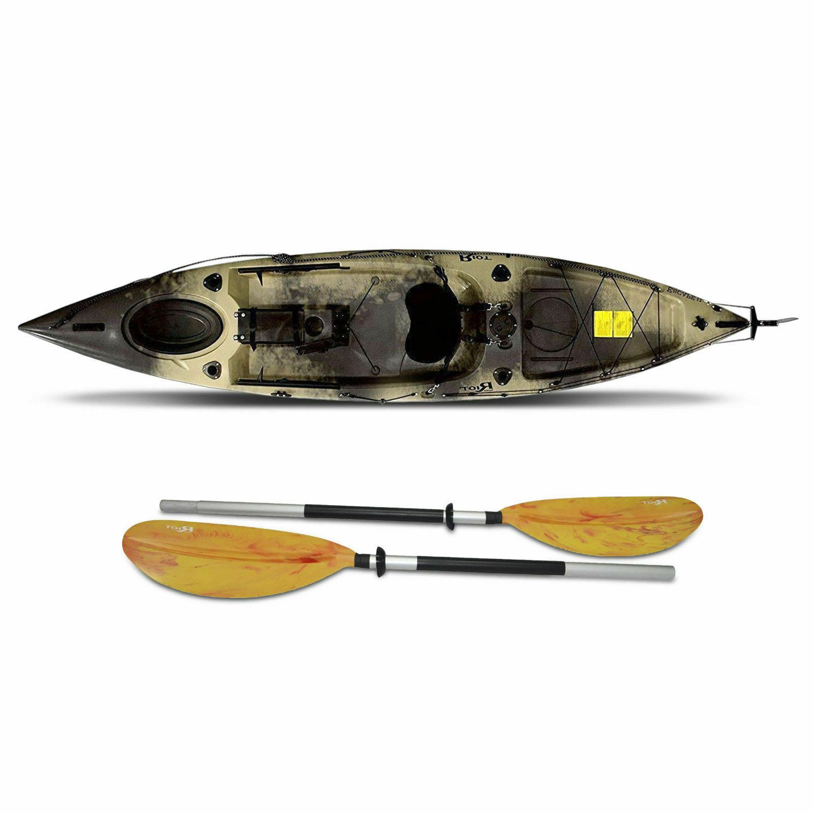 riot escape 12 angler fishing kayak sot