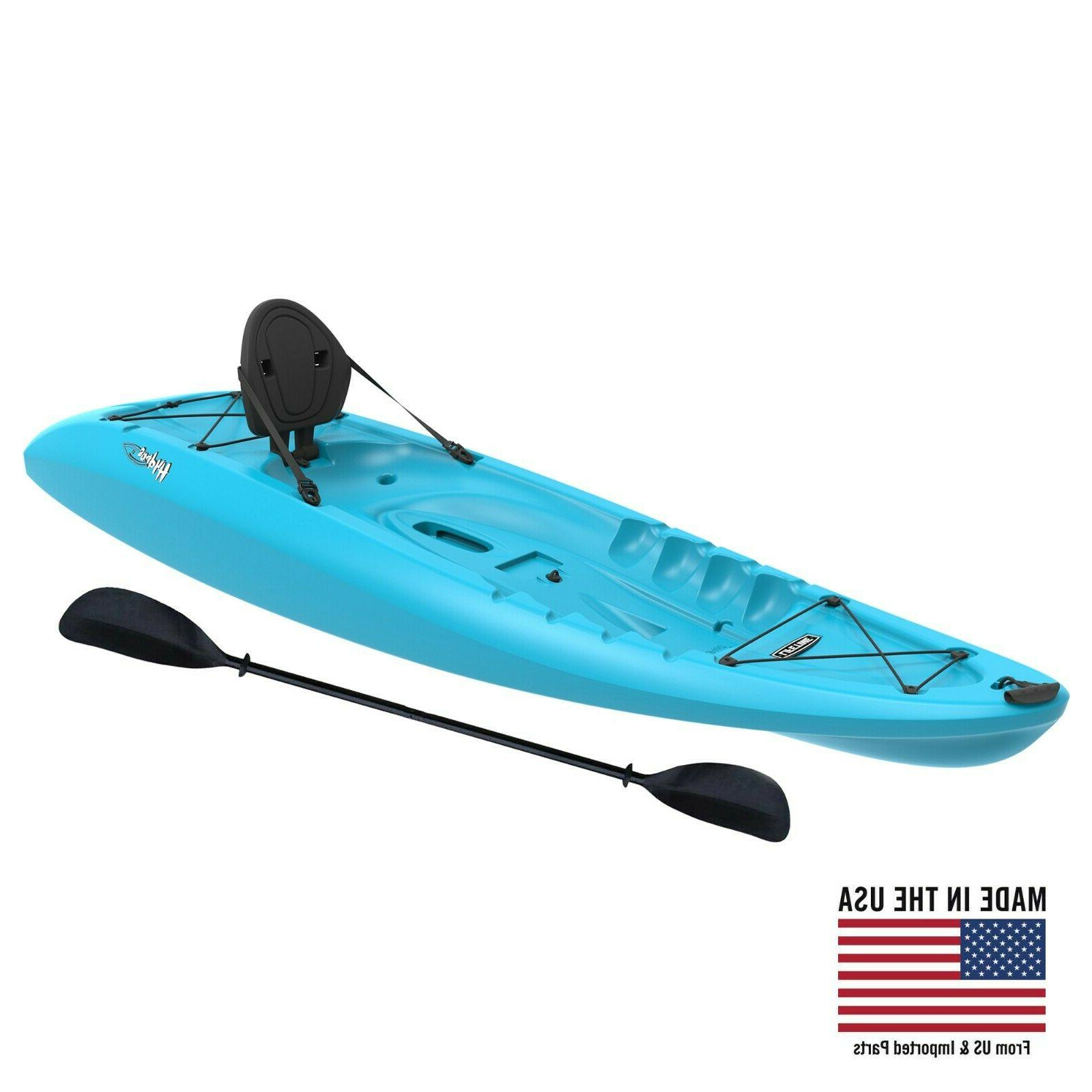 sit on top kayak with paddle water